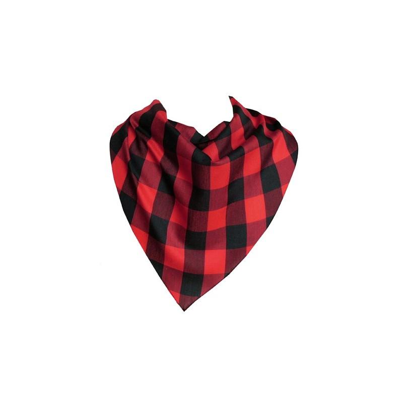 Foulard à carreaux rouges et noirs