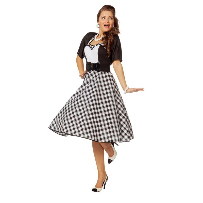 655783d8e Disfraz vestido mujer años 50 para tus fiestas de disfraces y carnaval