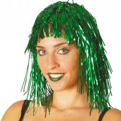 Peluca verde metalizada