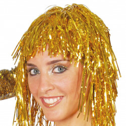 Peluca dorada metalizada