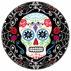 10 assiettes Day of the dead 23 cm