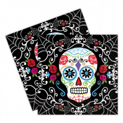 20 Serviettes Day of the Dead