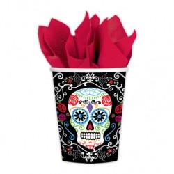 10 vasos día de los muertos