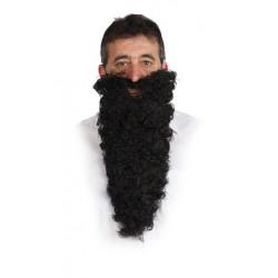 Barba y bigote negro