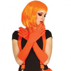 Gants orange fluo