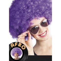 Peluca afro violeta