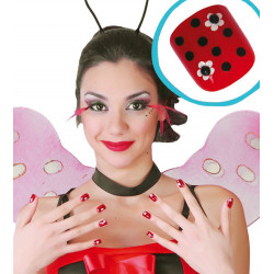 Faux ongles coccinelle