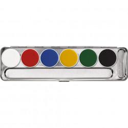 Aquacolor paleta 6 colores