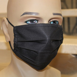 Masque hygiénique noir à plis