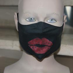 Masque hygiénique tissu noir