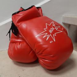 Gants de boxe rouge